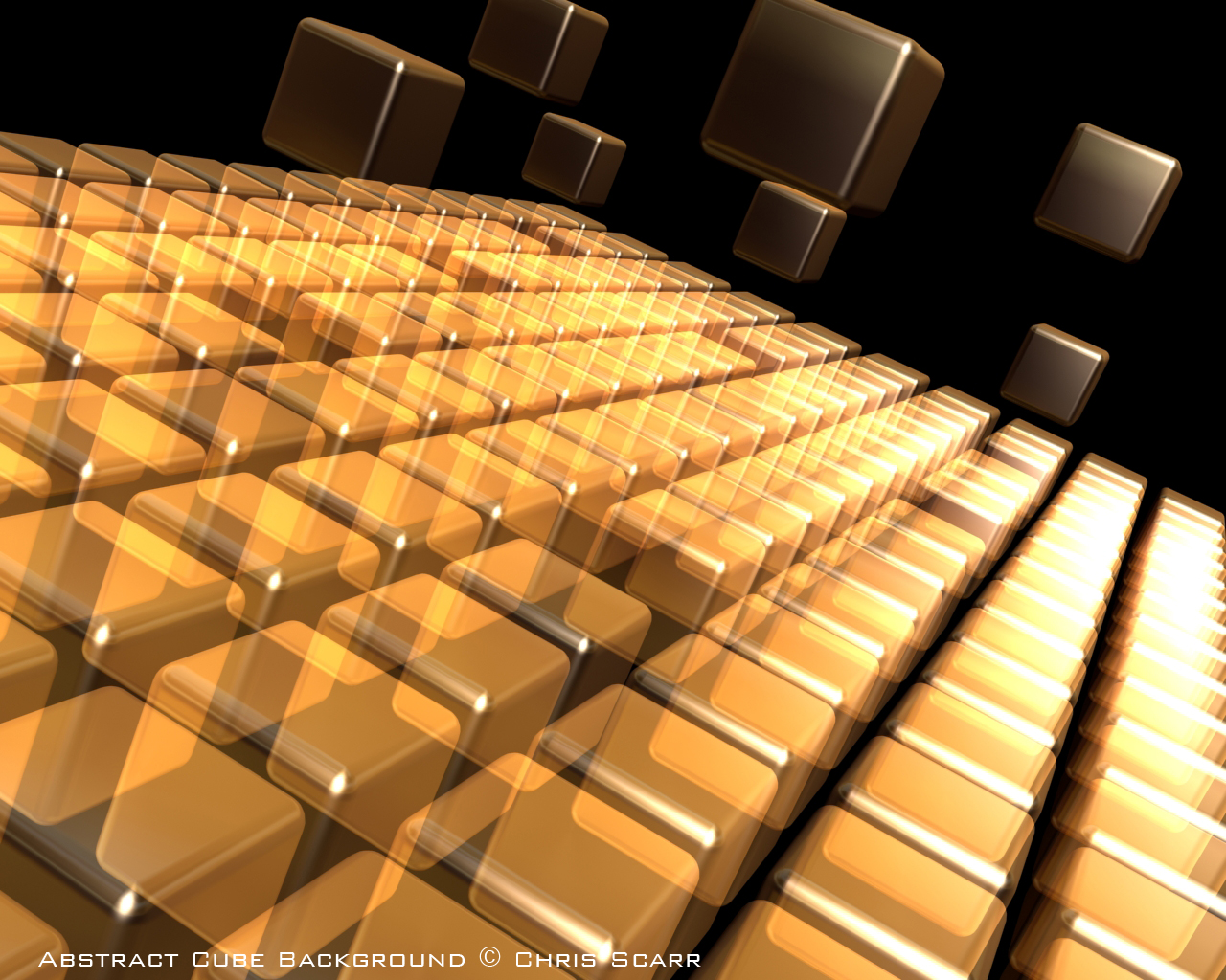 3D Abstract Cube Background by Grimthor 1280x1024