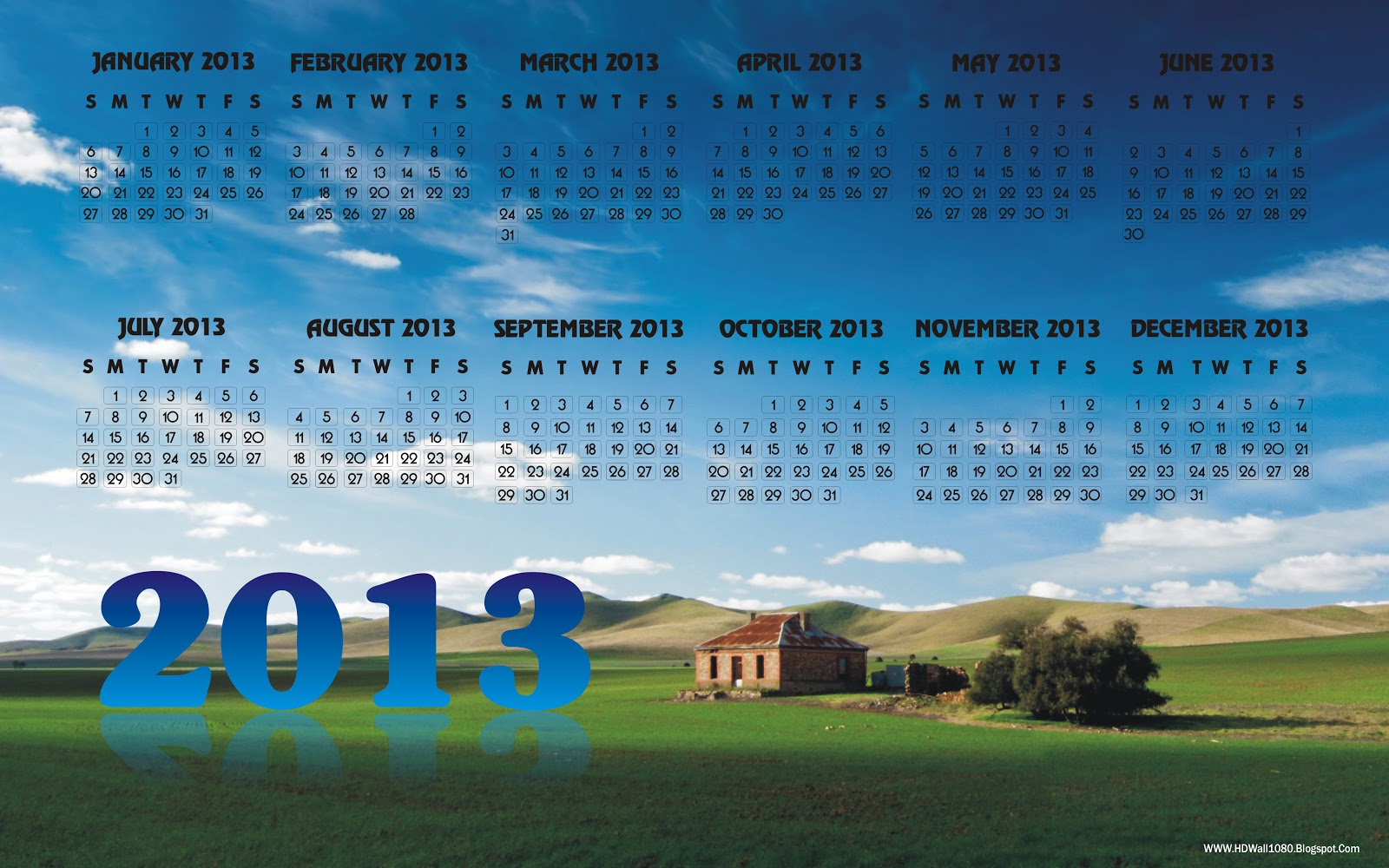 Calendar 2013 Hd Wallpapers 1600x1000
