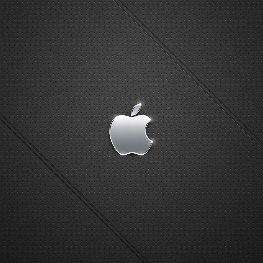 Black Leather Logo iPad Air Wallpaper Download iPhone Wallpapers 1024x1024