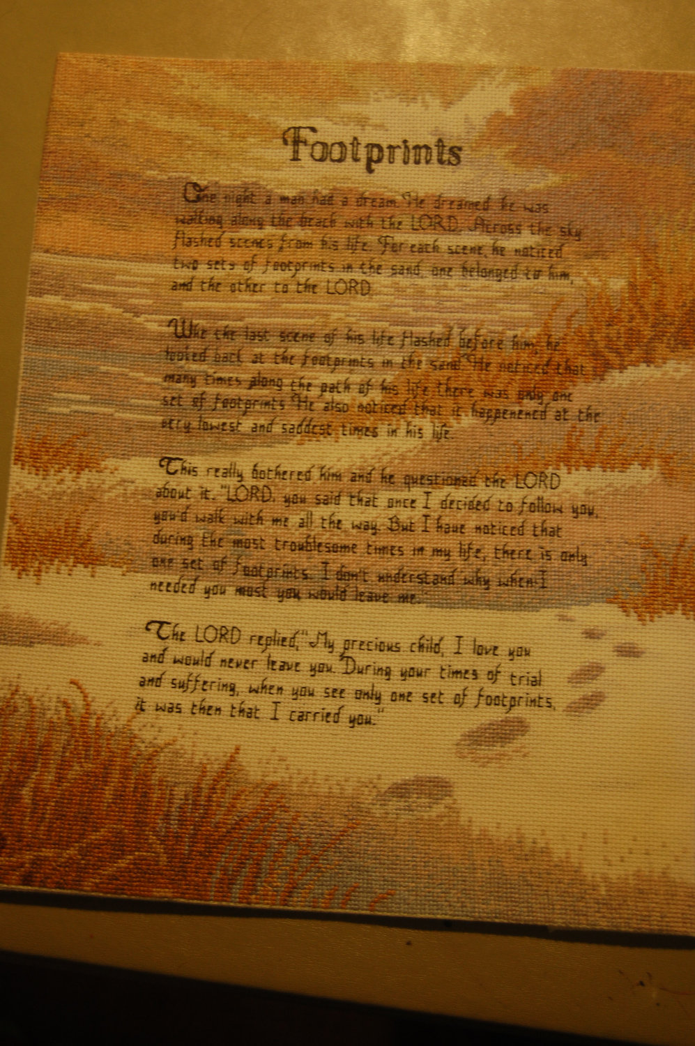 Footprints In The Sand Poem Background Footprints in the sand by 997x1500