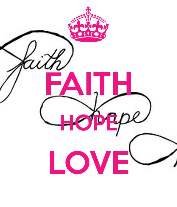 Faith Wallpaper: Faith Hope Love Wallpaper