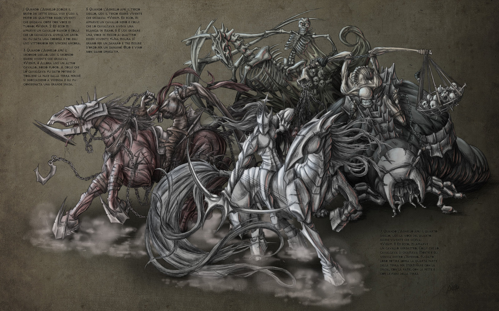 Four Horsemen of Apocalypse by bigTaki 1600x1000