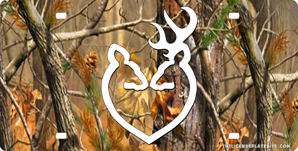 Browning Camo Backgrounds Browning doe buck heart 591x300