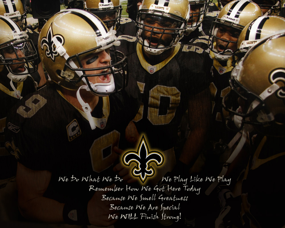 Wallpapers   NFL Saints Huddle Greatness by yurintroubl   Customize 938x750