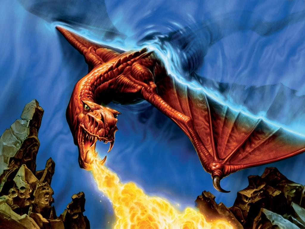 Fire Dragon Wallpapers 1024x768