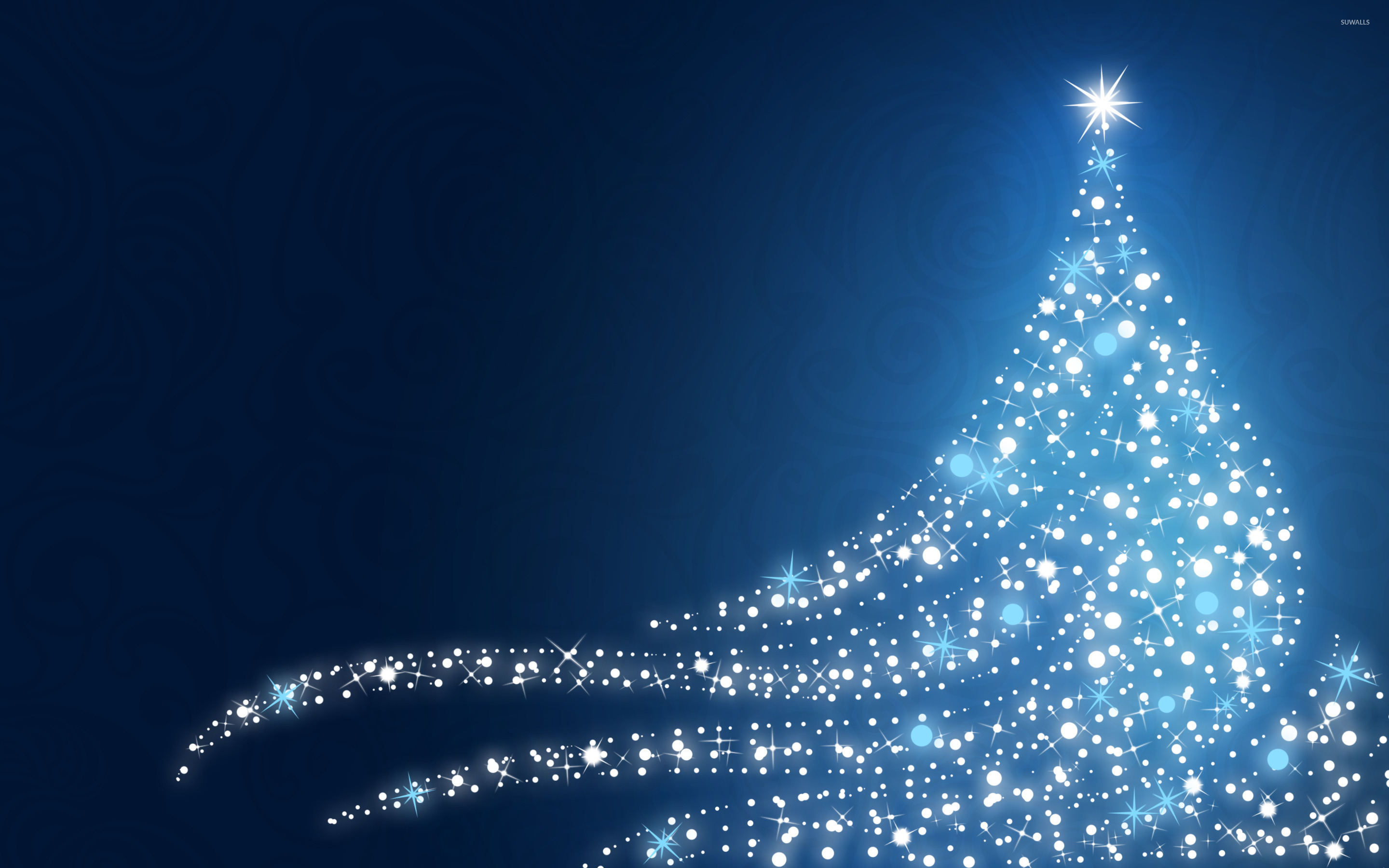 Sparkling Christmas tree wallpaper   Holiday wallpapers   25835 2880x1800