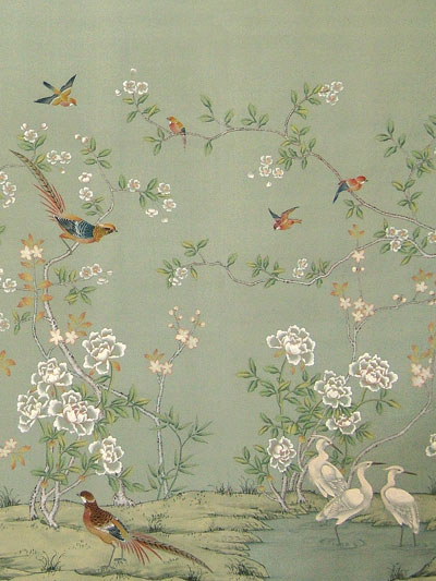 Pinterest Chinoiserie Wallpaper Painted Wallpaper and Painted Silk 400x533