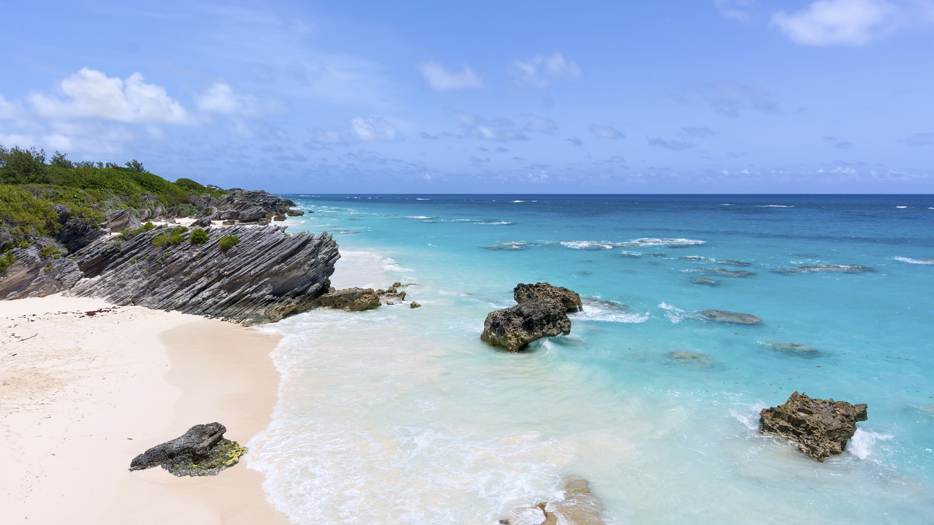 Bermuda Beaches Pink Sand Wallpaper 1920x1080