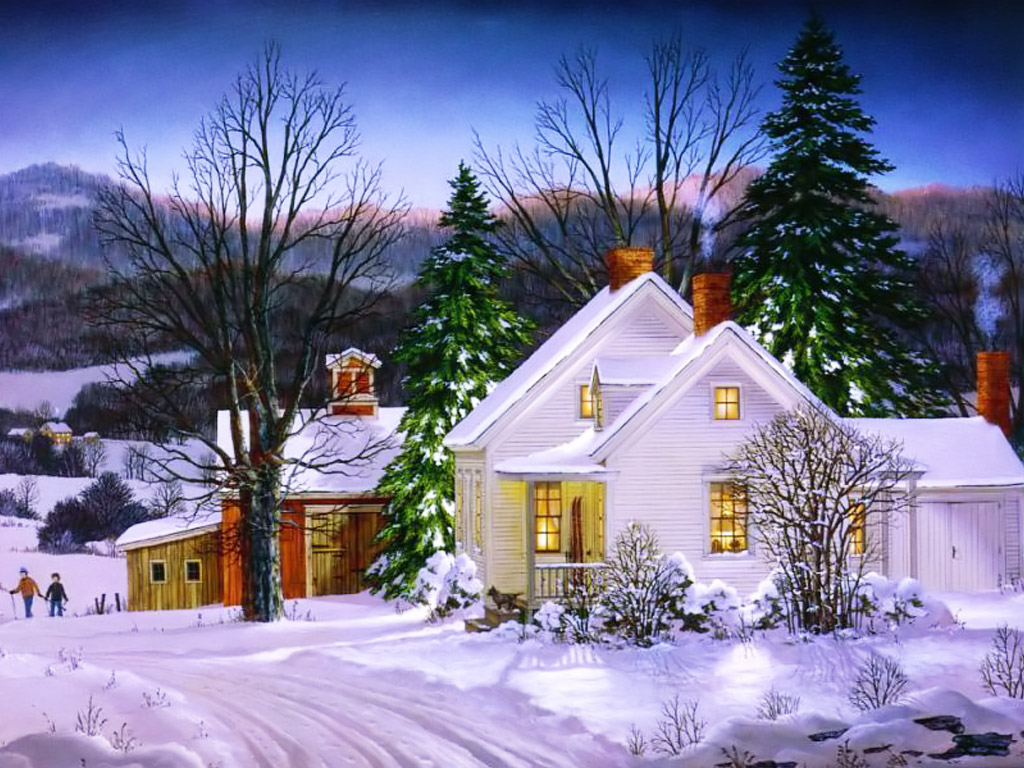 New Year Wallpaper   2012 New Year Winter Wallpaper New Year Winter 1024x768