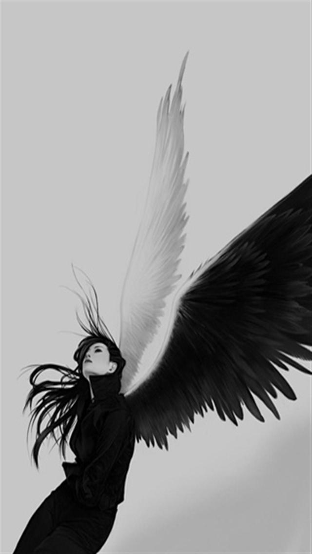 Angel iPhone Wallpaper - WallpaperSafari