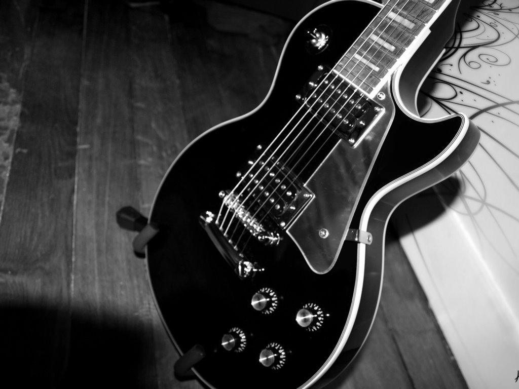 57 Guitar Black Background On Wallpapersafari
