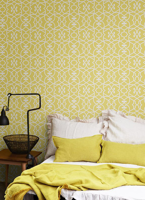 Self adhesive vinyl temporary removable wallpaper wall decal  108 570x786