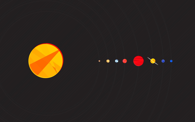 Minimalist Solar System wallpaper 259086 2880x1800