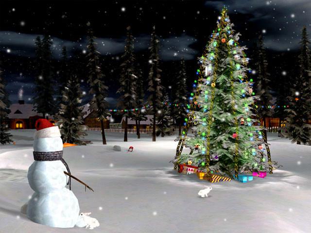 3D Christmas Eve Screensaver   Download 640x480