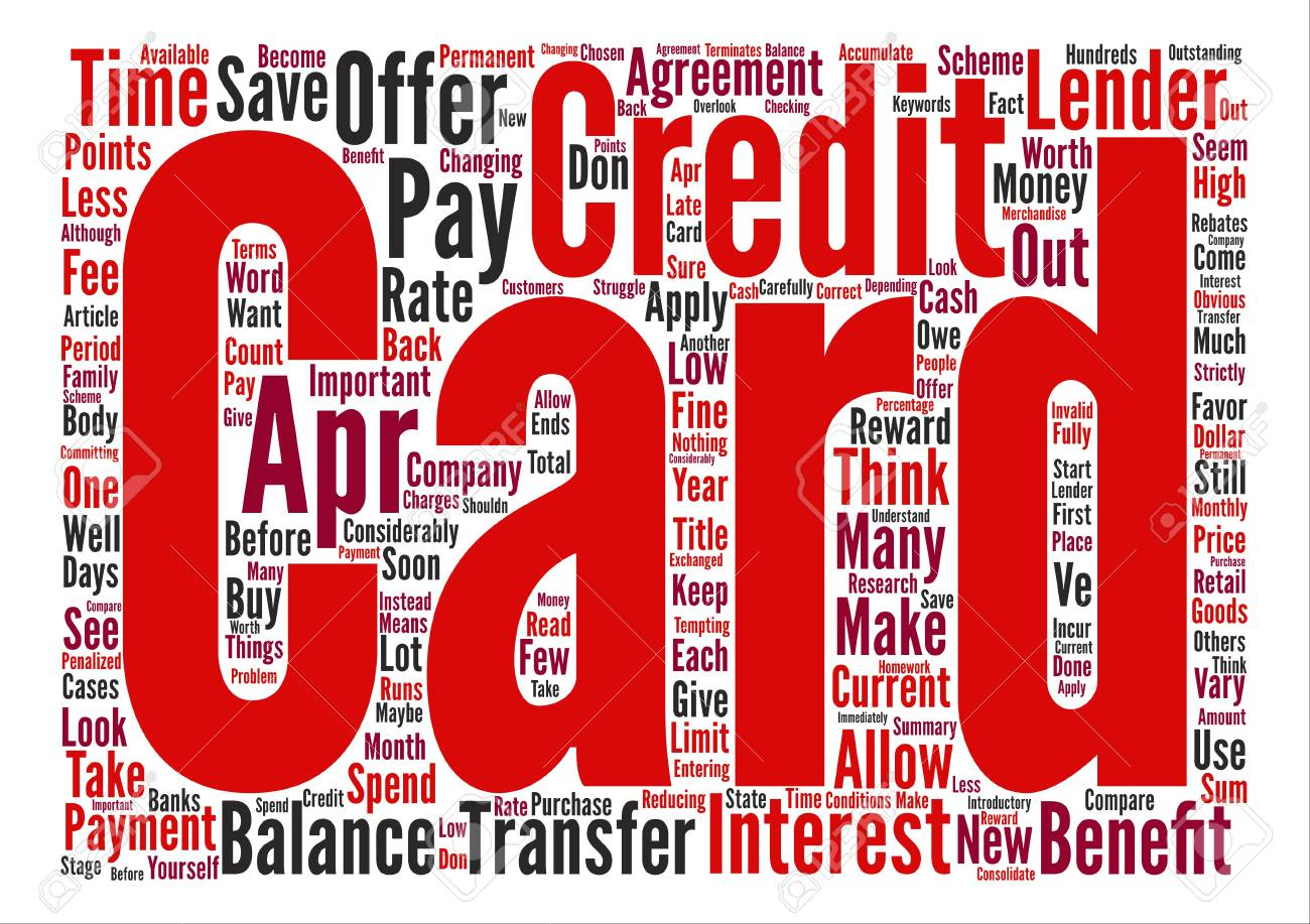 APR Credit Card Benefits Text Background Word Cloud Concept 1300x917
