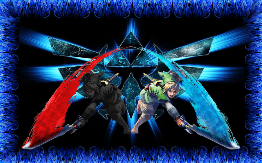 Link And Dark Link Wallpaper Dark link and link wallpaper 900x563