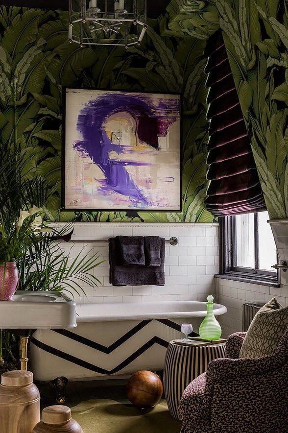 Banana Leaf Wallpaper Tropical wallpaper Pinterest 588x884