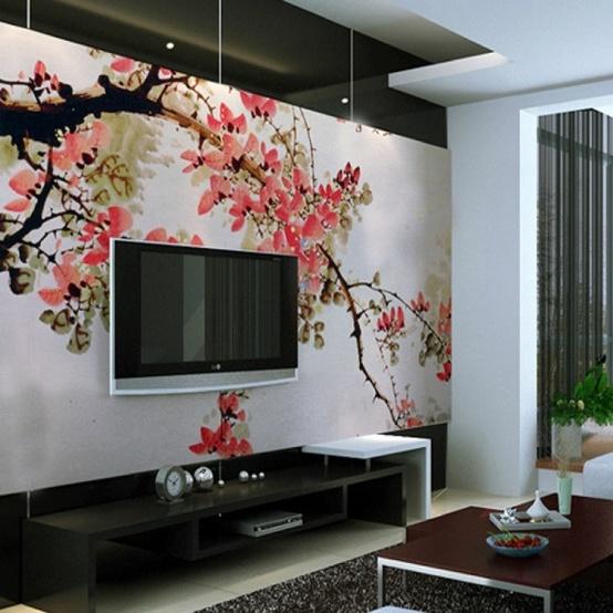 asian wall murals wallpaper wallpapersafari10 living room designs with unexpected wall murals decoholic 554x554