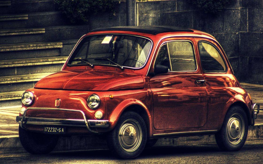 Vintage Fiat 500 wallpaper 2560x1600 1050 WallpaperUP 1120x700