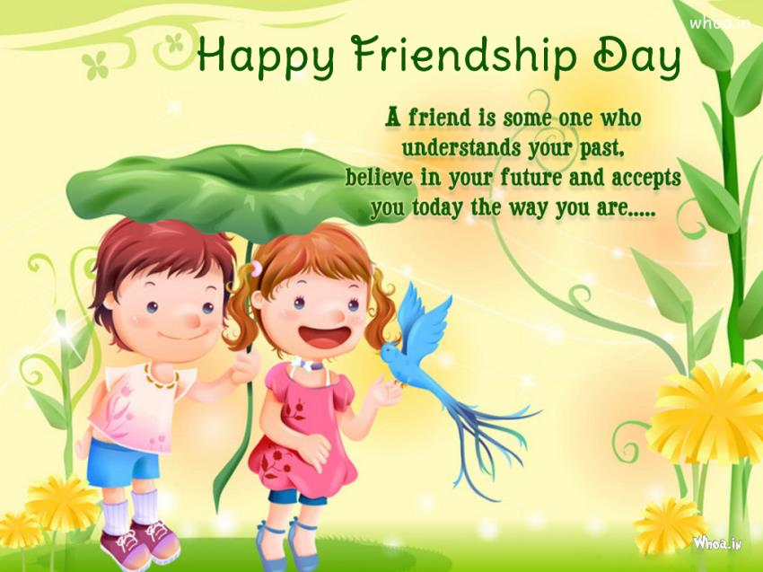 Download Happy Friendship Day Quote And Like A Cartoon Hd Wallpapers
