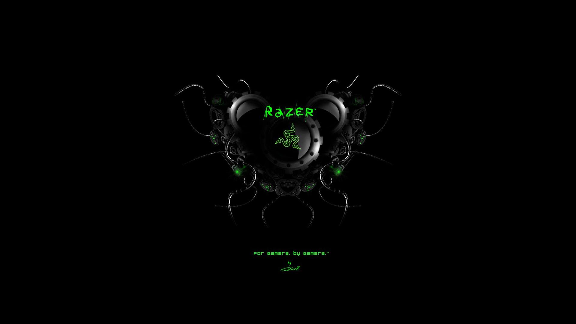 razer logo black background hd 1920x1080 1080p wallpaper compatible 1920x1080