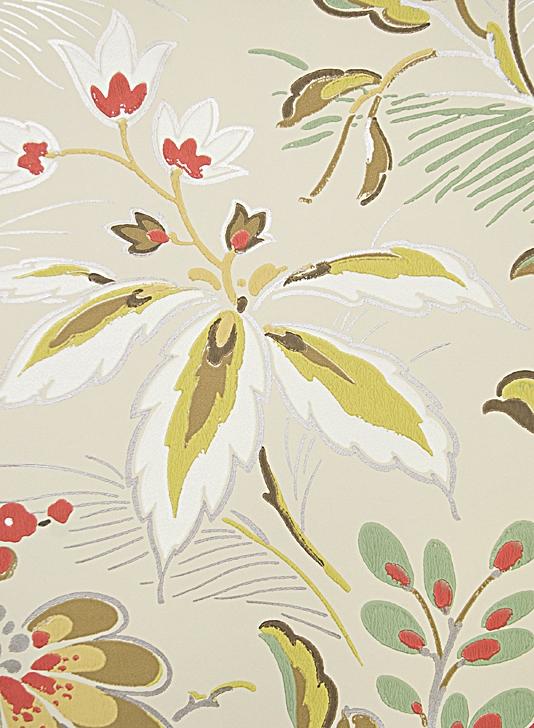 5f37ca25a9c Large floral print wallpaper Elizabethan style floral wallpaper 534x728