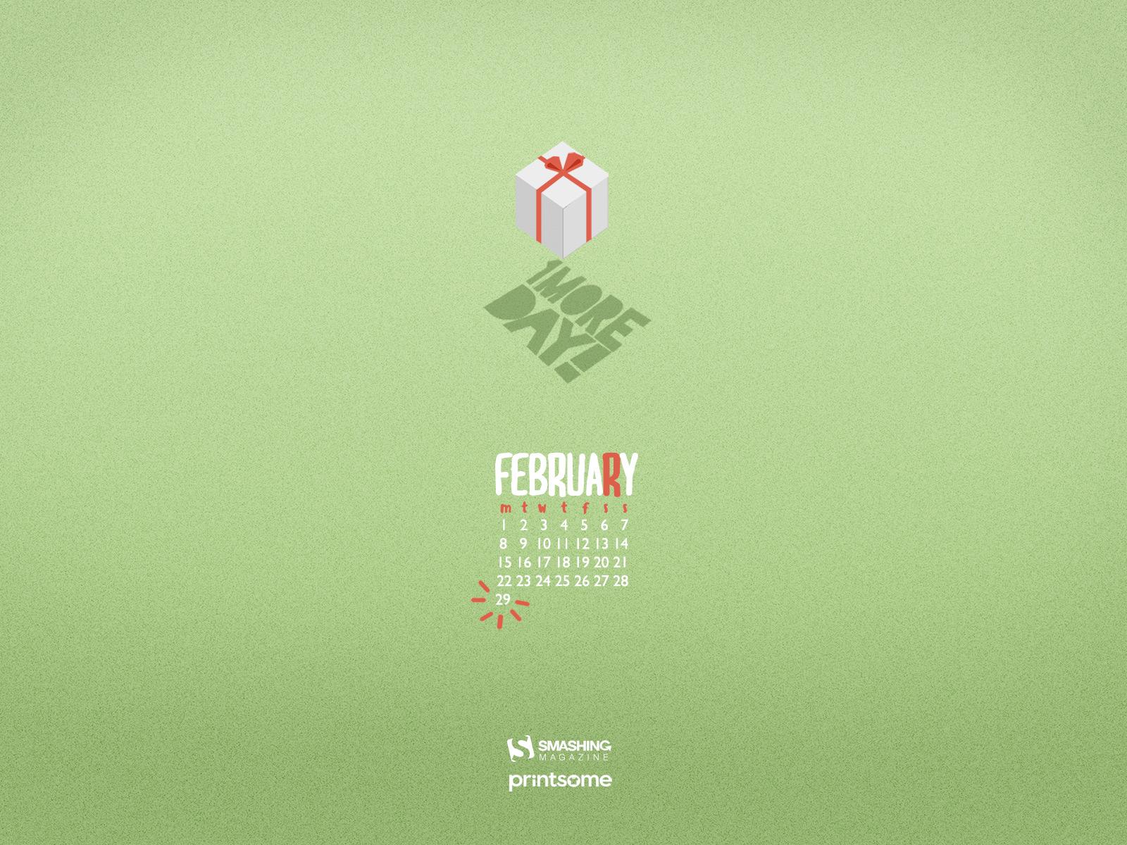 Desktop Wallpaper Calendars February 2016 DigitalMofo 1600x1200