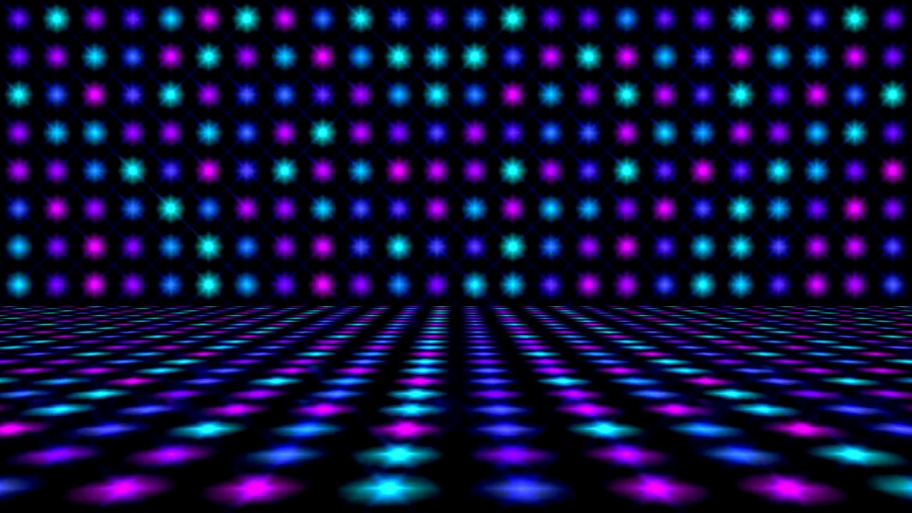 Dance Floor Lights Colors   Video Background HD 1280x720