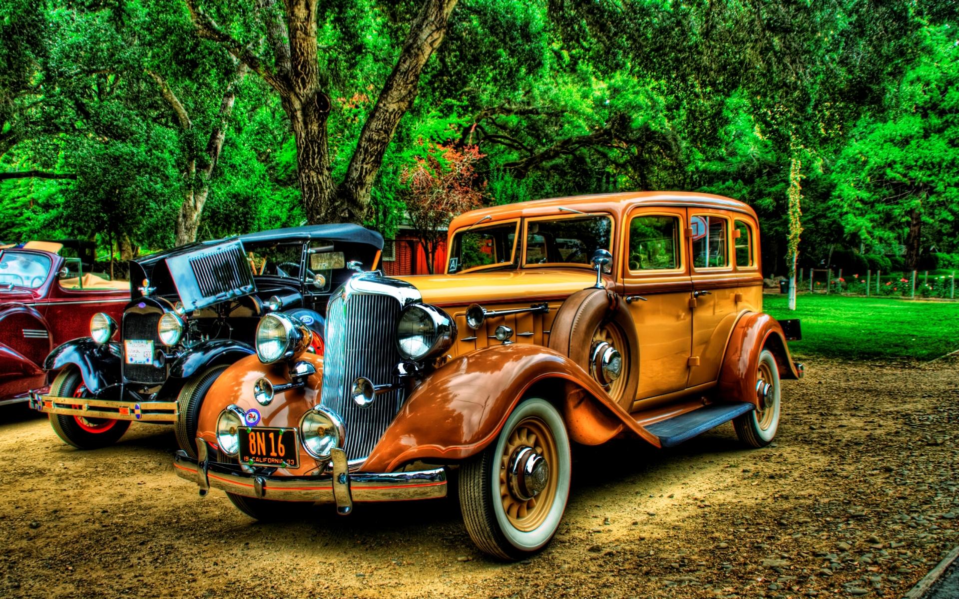 cars retro auto classic hdr chrome color lights wheels wallpaper 1920x1200