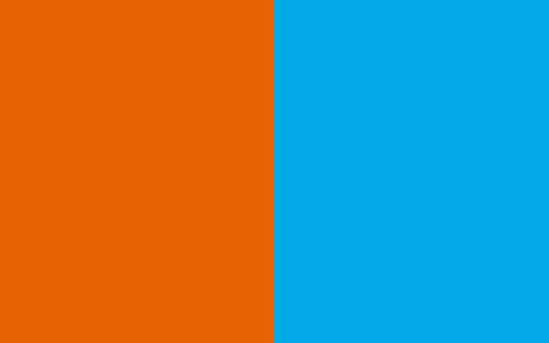 1920x1200 Spanish Orange and Spanish Sky Blue Two Color Background 1920x1200