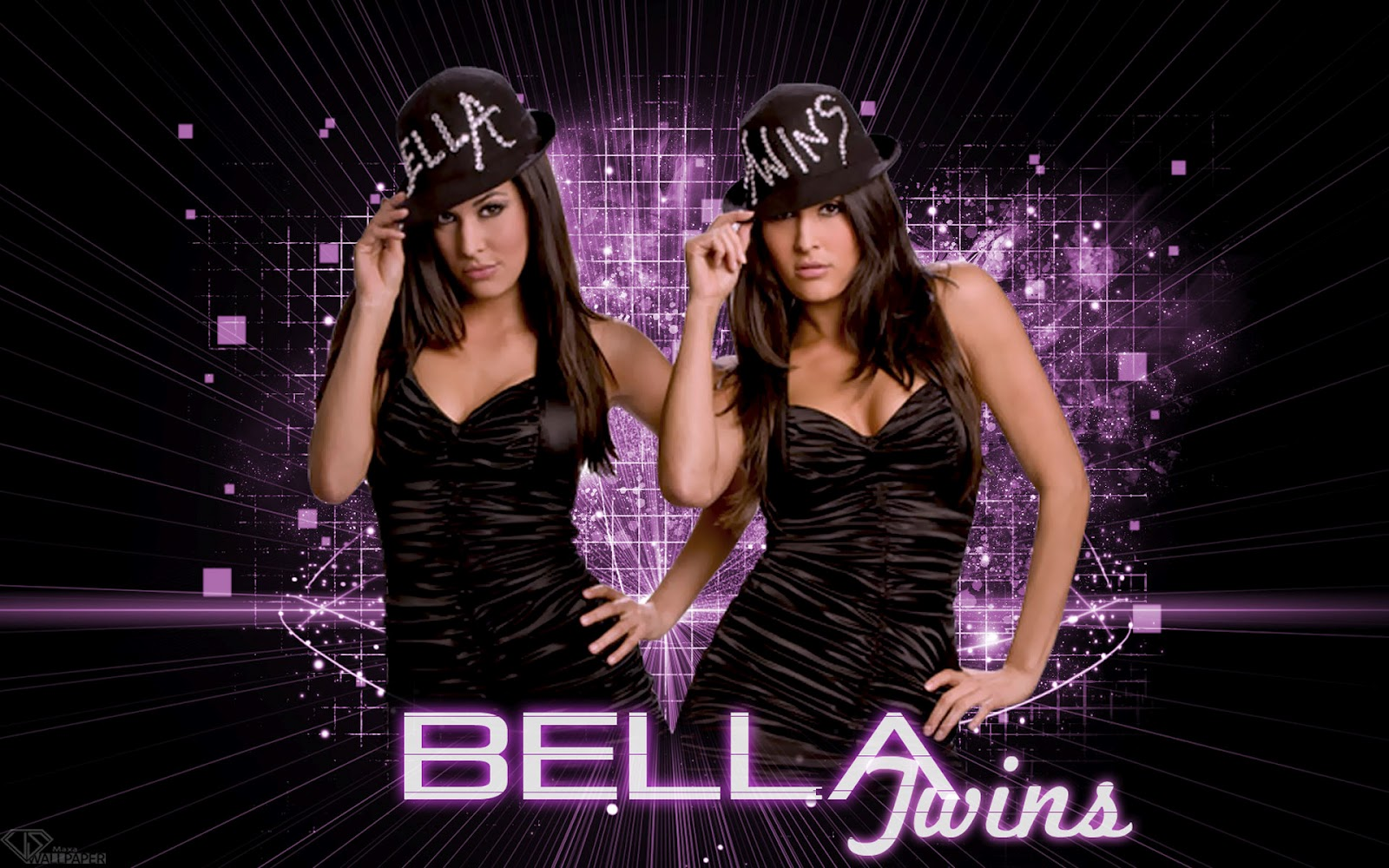 WWE WALLPAPERS The Bella twins Bellas Brie Bella Nikki Bella 1600x1000