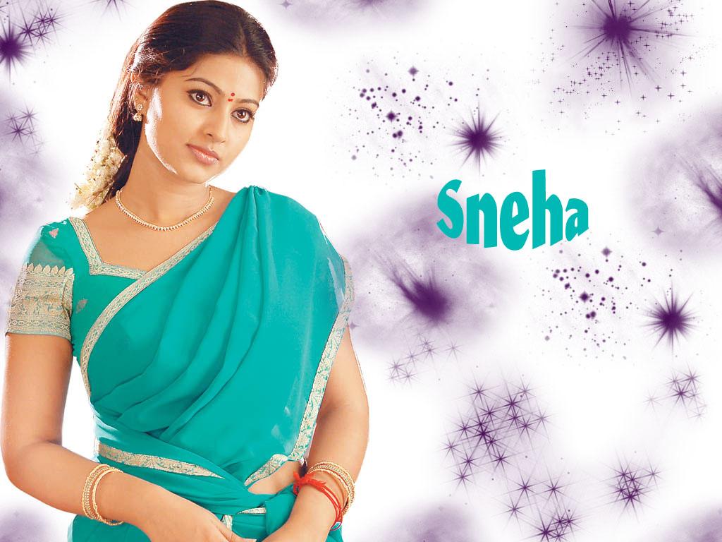 Actress Sneha Blue Saree 1024x768 pixel Popular HD Wallpaper 32502 1024x768