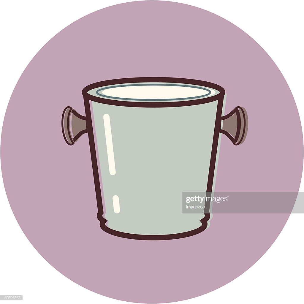 Illustration Of An Ice Bucket On A Purple Background stock 1024x1024