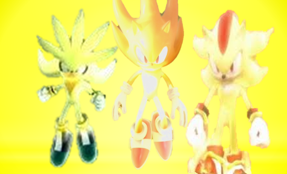 Super Sonic, Shadow, and Silver Earth Blue Sky by 9029561 ... |Super Sonic And Super Shadow And Super Silver Wallpaper