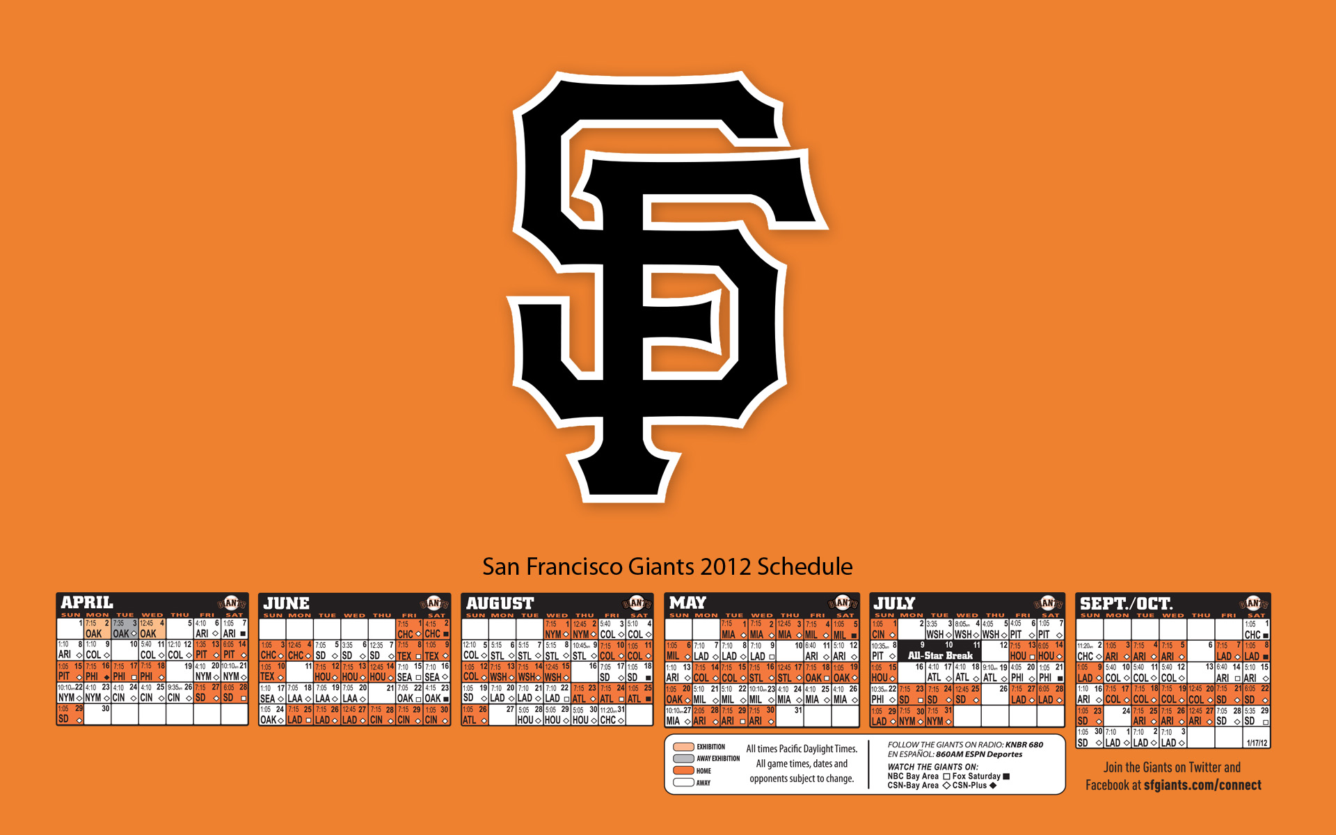 san francisco giants schedule 2012 San 1920x1200