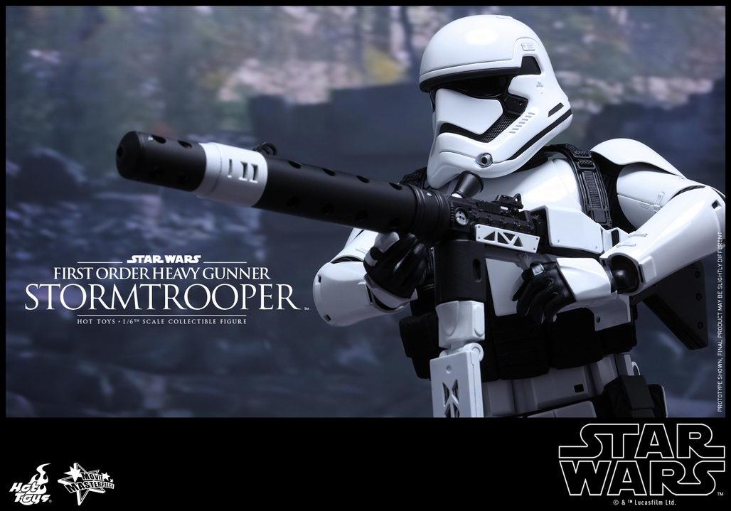 Order emblem hexagonal figure stand with First Order Stormtrooper 1028x719