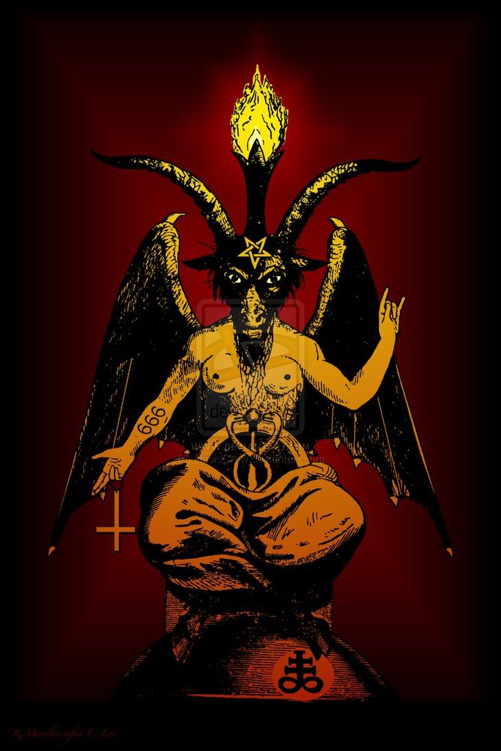Satanic Goat Baphomet the Horned God Satan by RabidCrow 730x1095