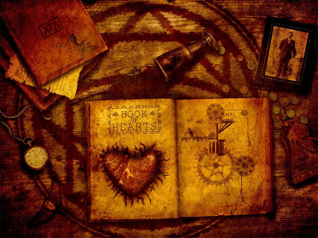 Book iPad wallpaper   Book of Hearts 1024x768