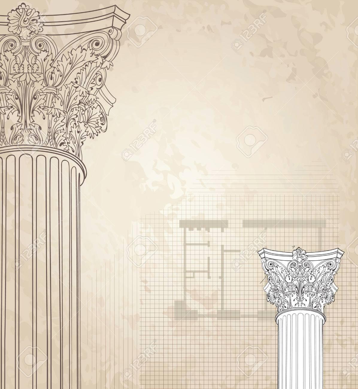 Classic Columns Seamless Background Roman Corinthian Column 1196x1300