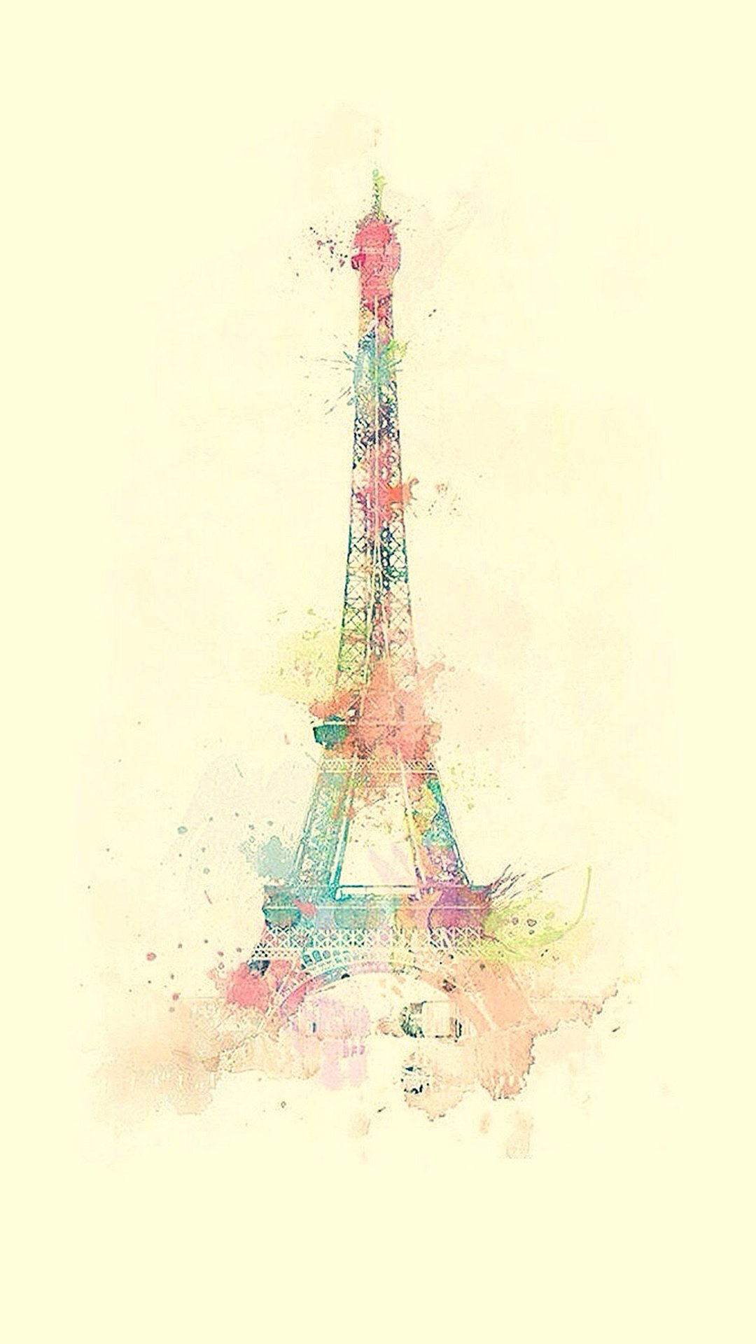 Tower Watercolor Paint iPhone 6 Wallpaper Download iPhone Wallpapers 1080x1920