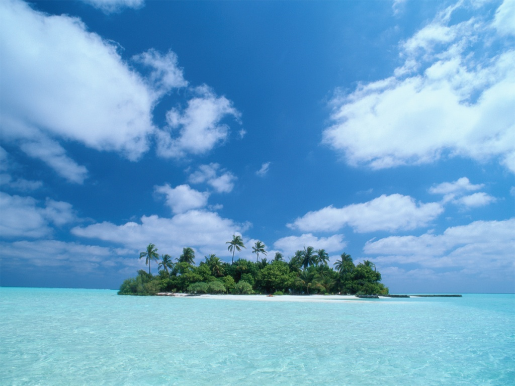 1024x768 Alone island desktop PC and Mac wallpaper 1024x768