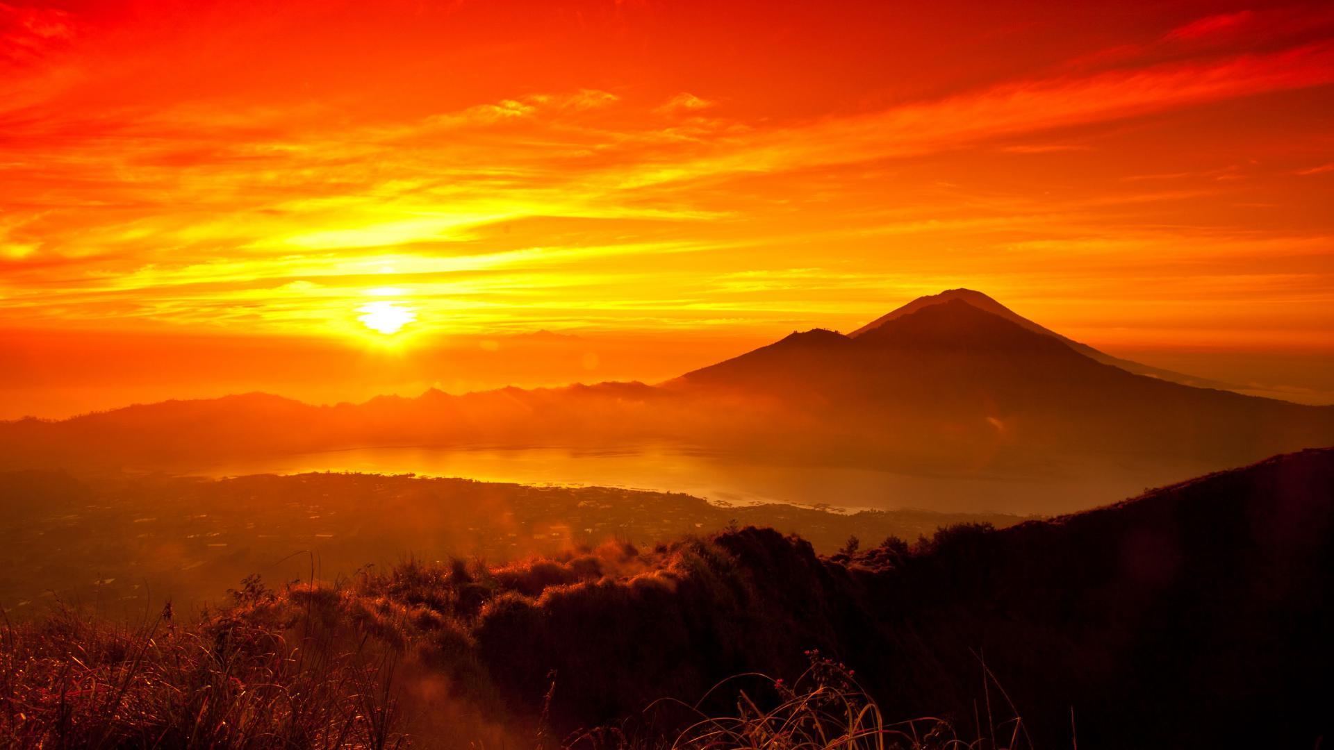 Nature Sunrise Sunset Indonesia Bali Landscape Indonesia wallpaper 1920x1080