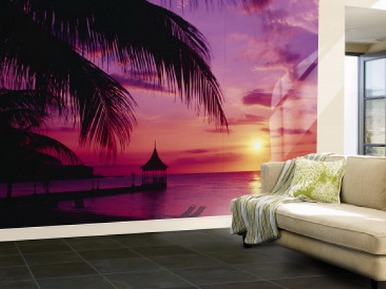 Purple ocean wallpaper murals for living room ideas best wall murals 1440x1077