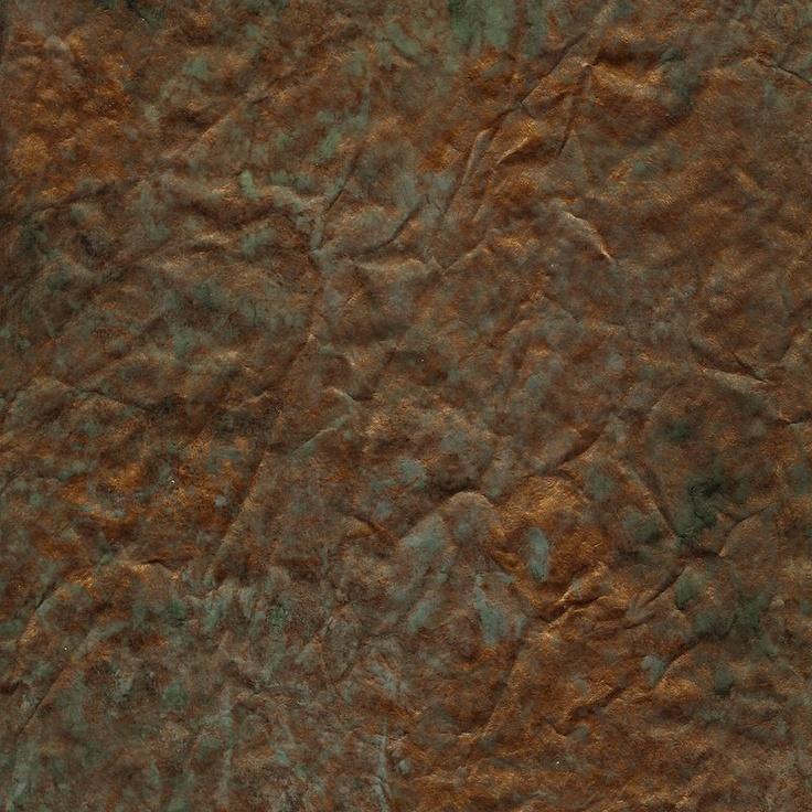 Patina Copper Torn Faux Wallpaper DIY Pinterest 736x736
