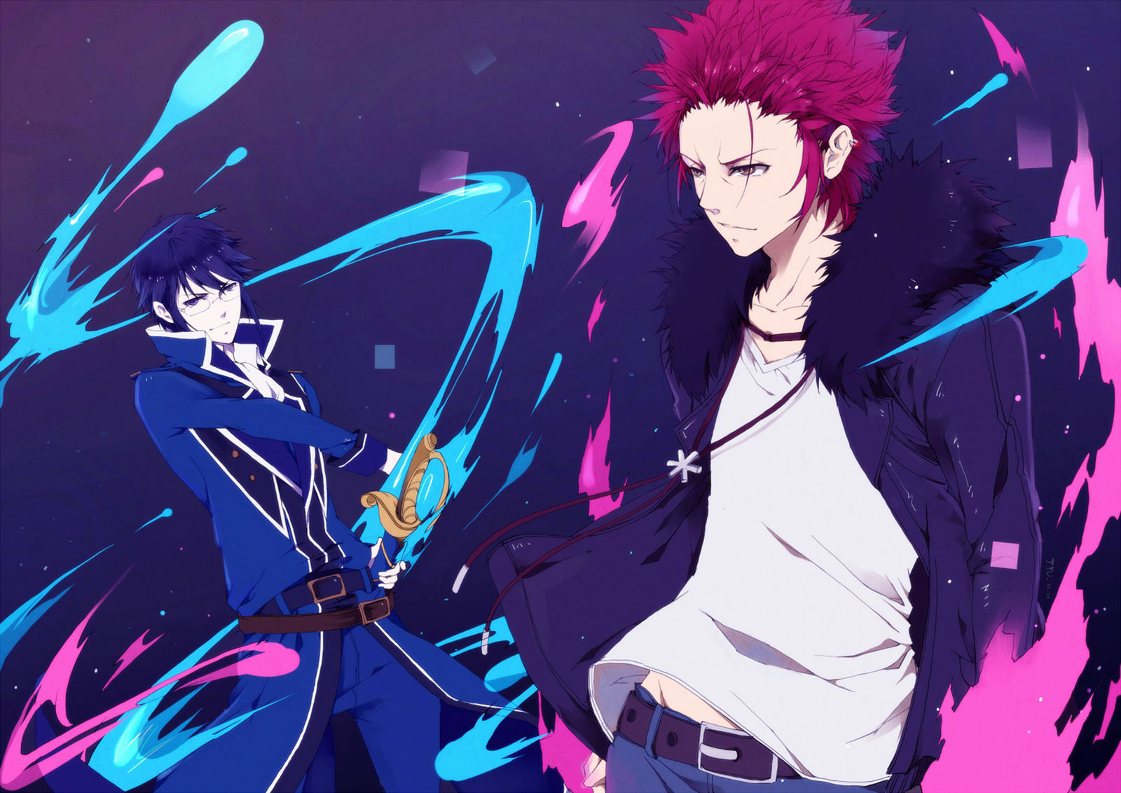 Project Mikoto Suoh Reisi Munakata Anime HD Wallpaper Desktop PC 1600x1132