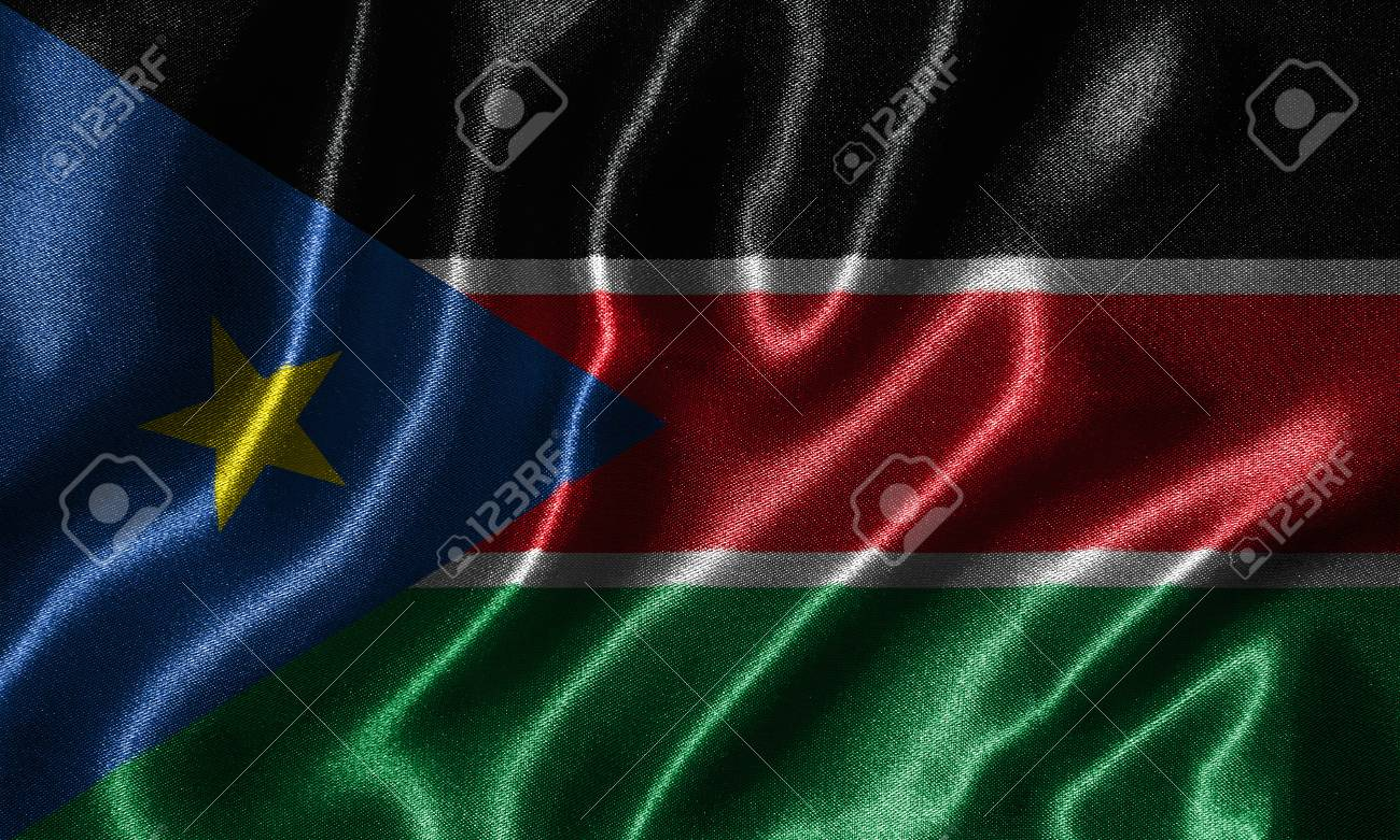 South Sudan Flag   Fabric Flag Of South Sudan Country Background 1300x781