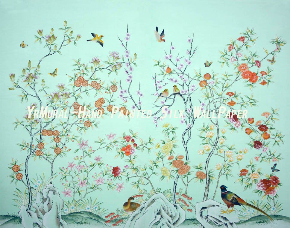 Hand Painted Chinoiserie Wallpaper on Aliexpresscom Alibaba Group 969x760