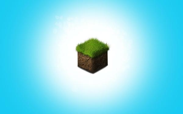 Minecraft minimalistic minecraft block Minecraft Wallpapers 600x375