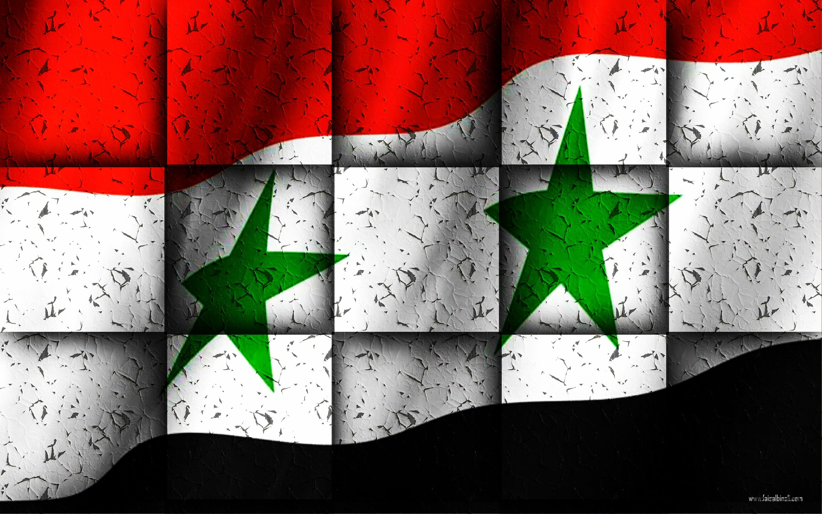 syria flags artwork Wallpapers for smartphones tablets and 2880x1800