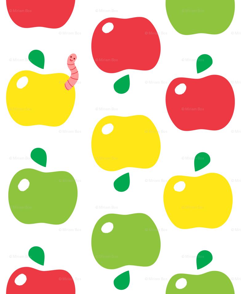 download Cute Fruit Wallpaper Cute apple pattern [783x957 783x957